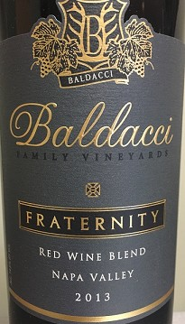 Baldacci Fraternity Red Wine Napa Valley 2015