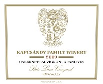 Kapcsandy Family State Lane Vyd 2009 Grand Vin