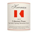 Robert Keenan 2012 Cabernet Franc Spring Mountain Napa Valley, 2012