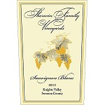 Sherwin Family Vineyards 2013 Sauvignon Blanc Knights Valley Sonoma County